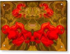 Flower Fairy Acrylic Print by Omaste Witkowski