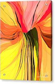 Flower Fantasy Acrylic Print by Hilda Lechuga