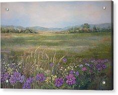 Flower Field Acrylic Print