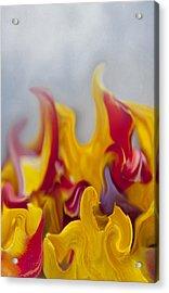 Flower Flames Acrylic Print by Svetlana Sewell