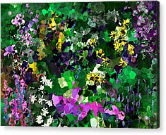 Acrylic Print featuring the digital art Flower Garden by David Lane