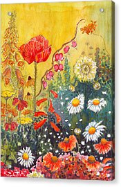 Acrylic Print featuring the painting Flower Garden by Katherine Miller