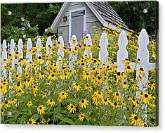 Flower Garden Acrylic Print by Susan Leggett
