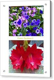 Flower Gardens B Acrylic Print