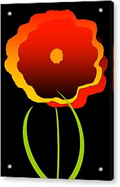 Acrylic Print featuring the digital art Flower by Gayle  Thomas