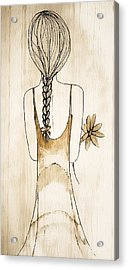 Flower Girl 3 Acrylic Print by Anne Costello