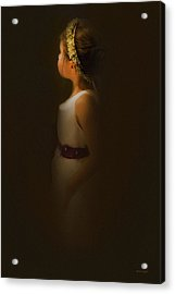 Flower Girl Acrylic Print by Theresa Tahara