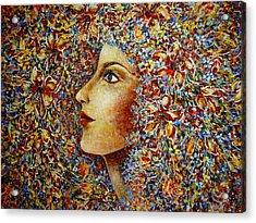 Flower Goddess. Acrylic Print by Natalie Holland