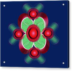 Flower Hearts Acrylic Print