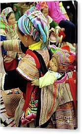 Flower Hmong Baby 03 Acrylic Print by Rick Piper Photography