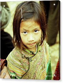 Flower Hmong Girl 02 Acrylic Print by Rick Piper Photography