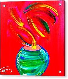 Flower In A Pot Acrylic Print by Mac Worthington