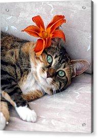 Flower In My Hair Acrylic Print by Kathleen Struckle