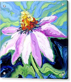 Flower Acrylic Print by Isabelle Gervais