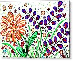 Flower Joy Acrylic Print by Sarah Loft
