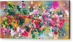 Flower Kaleidoscop Acrylic Print