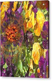 Acrylic Print featuring the digital art Flower by Kelly McManus
