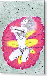 Acrylic Print featuring the mixed media Flower. by Kenneth Clarke