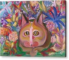 Flower Kitty Acrylic Print