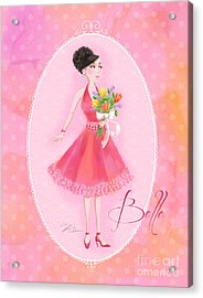 Flower Ladies-belle Acrylic Print