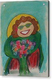 Flower Lady Acrylic Print by Erica Simons