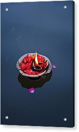 Flower Lamp On The Ganges River Acrylic Print
