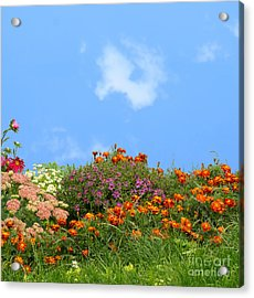 Flower Landscape Art Acrylic Print by Boon Mee