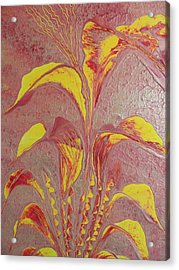 Acrylic Print featuring the painting Flower by Nico Bielow