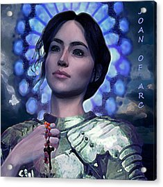 Joan Of Arc Flower Of France Acrylic Print