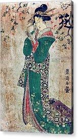 Flower Of Japan C. 1804 Acrylic Print by Daniel Hagerman