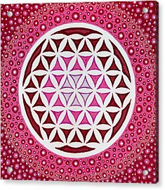 Flower Of Life Acrylic Print by Christopher Sheehan
