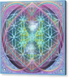 Flower Of Life Forested Chalice In Passion Brights Acrylic Print by Christopher Pringer