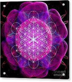 Flower Of Life No Two Acrylic Print