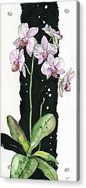 Acrylic Print featuring the painting Flower Orchid 02 Elena Yakubovich by Elena Yakubovich