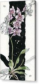 Acrylic Print featuring the painting Flower Orchid 04 Elena Yakubovich by Elena Yakubovich