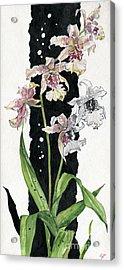 Acrylic Print featuring the painting Flower Orchid 06 Elena Yakubovich by Elena Yakubovich