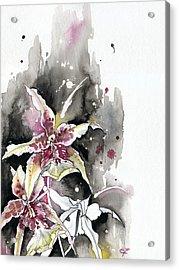 Flower Orchid 12 Elena Yakubovich Acrylic Print by Elena Yakubovich