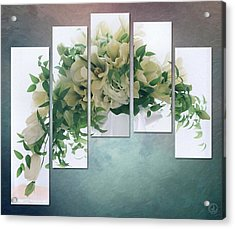 Flower Panels Acrylic Print by Gun Legler