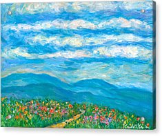 Flower Path To The Blue Ridge Acrylic Print