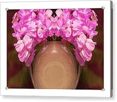 Flower Pot Iv Acrylic Print by Ck Gandhi
