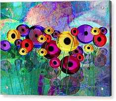Flower Power Abstract Art  Acrylic Print