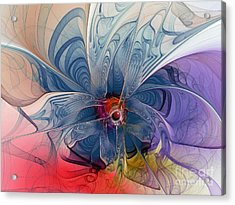 Flower Power-fractal Art Acrylic Print by Karin Kuhlmann
