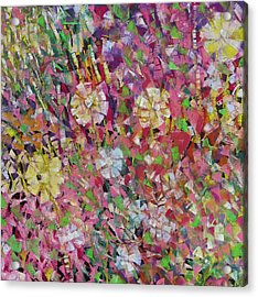 Flower Power Acrylic Print by Katie Black
