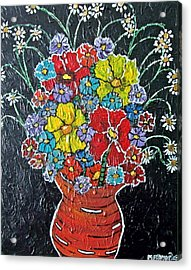 Flower Power Acrylic Print by Matthew  James