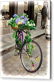 Flower Power Meets Pedal Power  Acrylic Print
