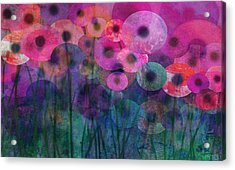Flower Power Six Acrylic Print by Ann Powell