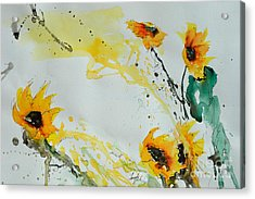 Flower Power- Sunflower Acrylic Print