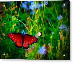 Flower Queen Acrylic Print