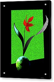 Acrylic Print featuring the digital art Flower Show by Asok Mukhopadhyay