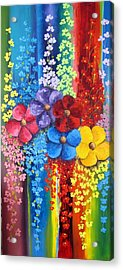 Flower Shower Acrylic Print